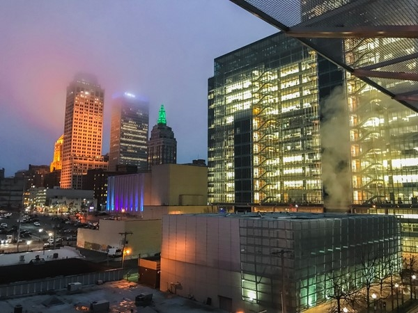 Fog over Downtown Tulsa