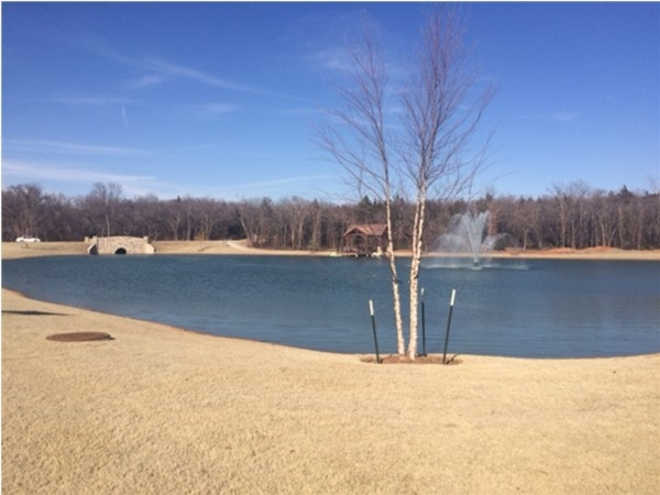 Ice House Lake at Town Square catches your eye as you enter the neighborhood