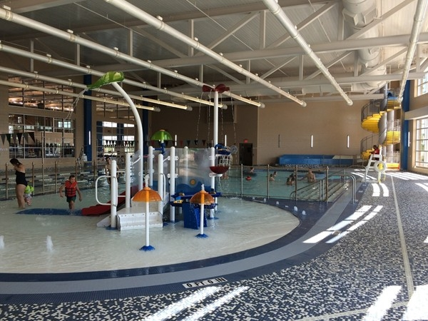A great indoor pool play area is another feature of the new YMCA at Mitch Park