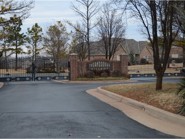 Thornbrooke Village in Southeast Edmond is a gated neighborhood