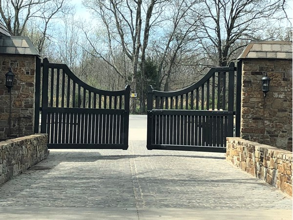 Substantial gates welcome you into Dover Pond. Great neighborhood