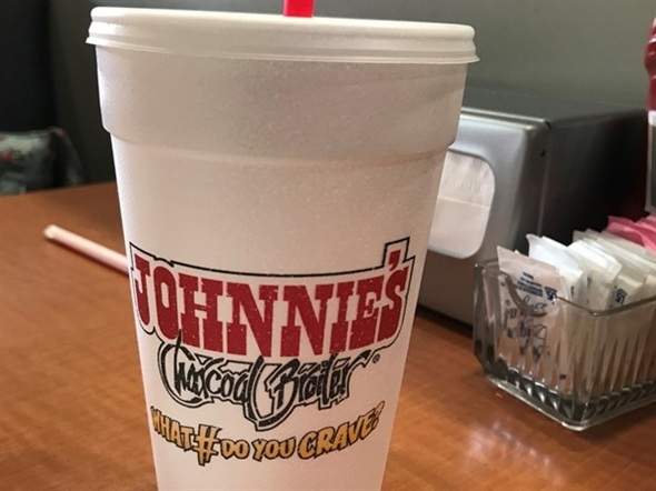 Yes, the straws are plastic, but the onion rings rock! Check out Johnnie's in The Village