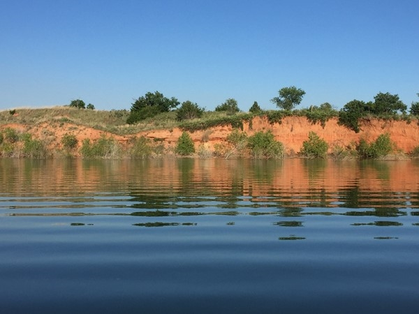 Red dirt and Foss Lake, beautiful combination
