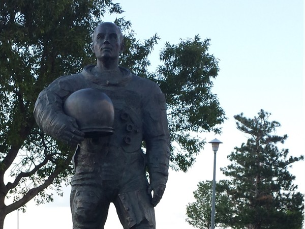 Statue of Lt. General Thomas P. Stafford at the Stars and Stripes Park NW Oklahoma City, OK