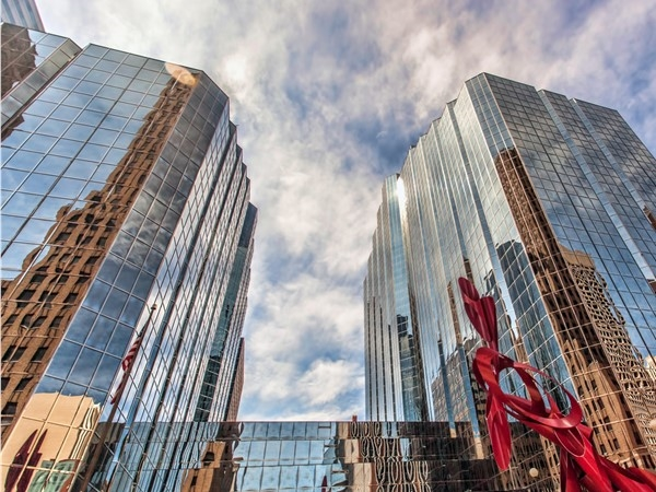 Downtown Oklahoma City offers beautiful buildings, architecture, art, and sculptures