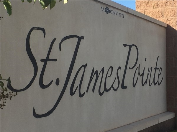 St. James Pointe entrance