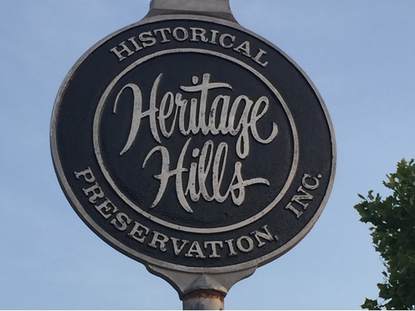 Historic Heritage Hills has several beautiful homes