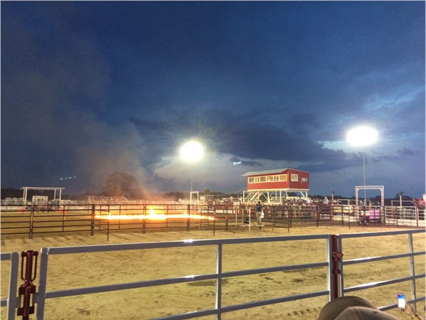 First Annual Lane Frost Memorial Bull Riding at Atoka Trail Riders' new arena