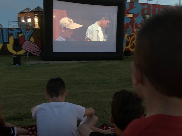 Movie night on Brookside Collective