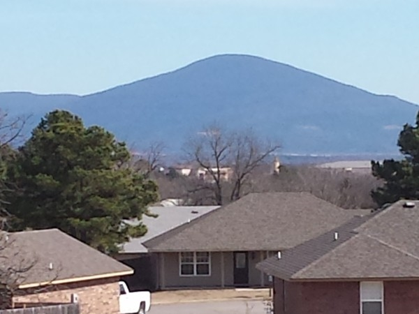 Great view of Sugarloaf Mountain from Poteau's Country Meadows Estates