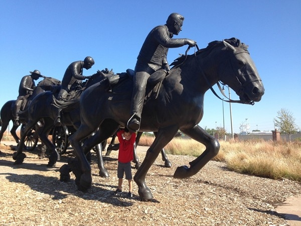 When visiting the OK river area, don't miss the Land Run sculptures. OKC is on the move!