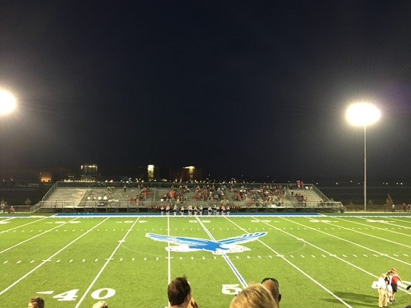 Opening night at the Rejoice Christian School's new football stadium