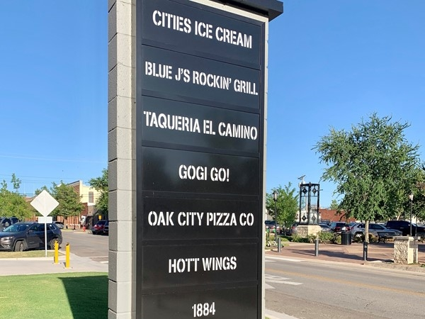 Restaurants and office/retail space at the Edmond Railyard