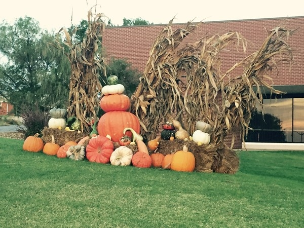 Fall decorations in Cheyenne.  Fun for all