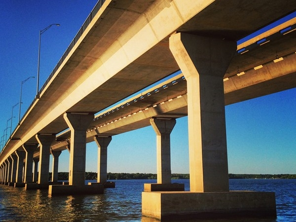 Oklahoma's second largest bridge over a waterway, Sailboat Bridge on Grand Lake is 2,548 ft.long