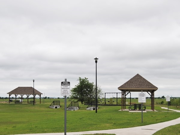 Carriage Park offers a walking trail, playground and a gathering place for the family cookout
