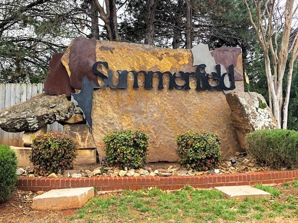 I love Summerfield's proximity to highways, shopping, and entertainment.  Quiet and safe