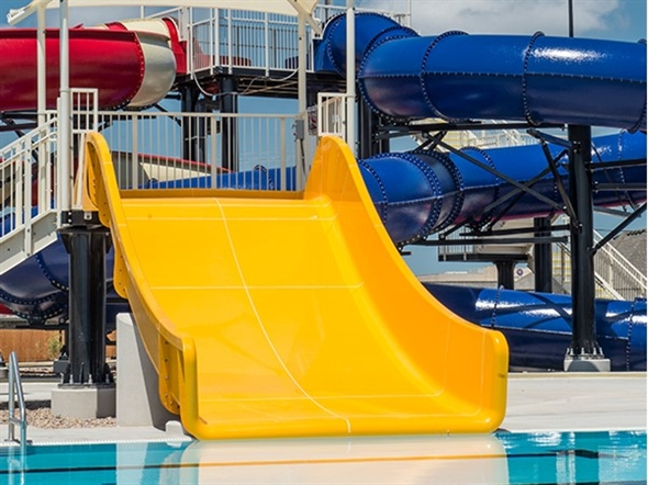 Water slide fun at The Station in Moore