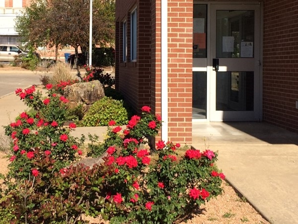 Atoka Post Office's red roses welcome patrons