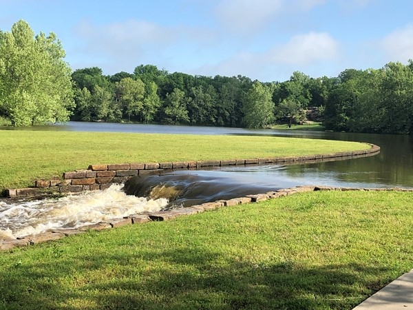 The pond in Dover Pond after a night of big rain
