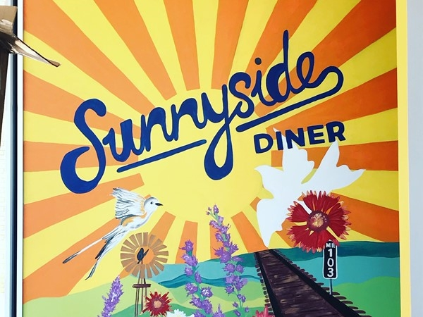 Photo opp mural in Sunnyside Diner