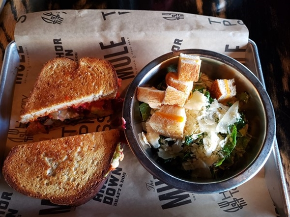 The Mule Herbivore Sandie and Caesar Salad - located in the Plaza District