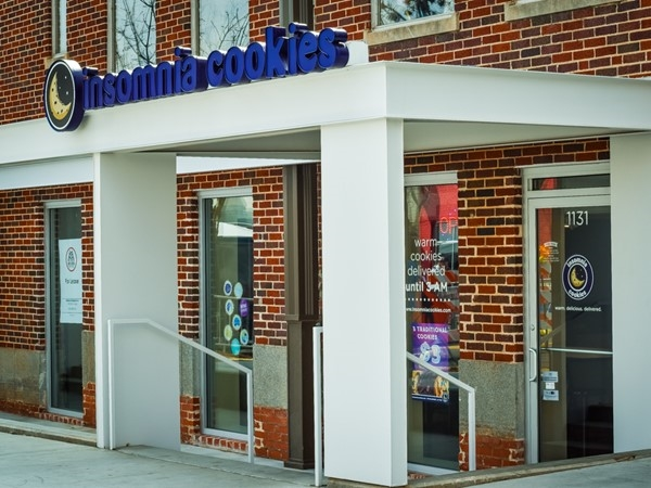 Insomnia Cookies. They deliver until 3:00 a.m. and you can place orders online