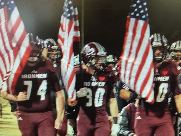 Nowata Ironmen honoring our local veterans