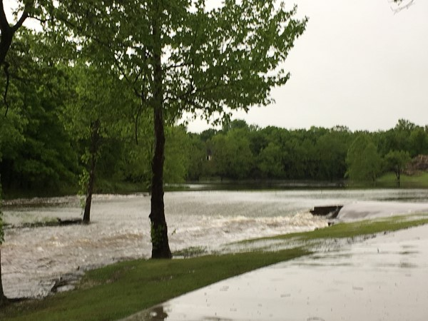 Rain, rain and more rain make for a full pond in Dover