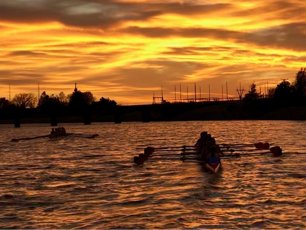 Staying golden rowing on the Oklahoma River