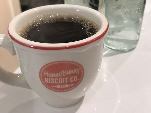 Adorable coffee cups at HunnyBunny Biscuit Co