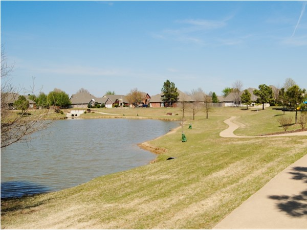 One of the attractive features of The Willows at Silver Creek, the community walking path