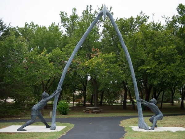 Statue at the entrance to Hafer Park is part of the Edmond Art in Public Spaces initiative