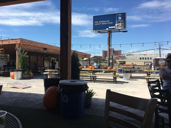 The Bleu Garten, 301 NW 10th Street, is a popular food truck park in Oklahoma City