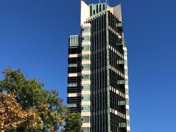 Price Tower is a Frank Lloyd Wright masterpiece! Visit Copper Restaurant at the top of the tower